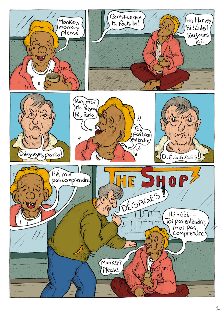 The Shop – colorization of the first 4 pages