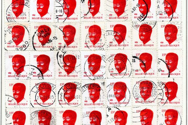 Everyone in balaclava: Belgium stamped